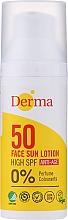 Parfumuri și produse cosmetice Loțiune anti-îmbătrânire de protecție solară pentru față - Derma Sun Face Lotion Anti-Age SPF50