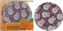Parfumuri și produse cosmetice Balsam cu extract de portocale pentru buze, în două straturi - SeaNtree Moisture Steam Dual Lip Balm Orange 3