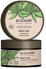 """Parfumuri și produse cosmetice Gel hidratant de corp """"Aloe vera organică și mucină de melc"""" - Ecolatier Organic Aloe Vera Nutrition & Hydration Body Gel"""