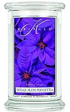 Parfumuri și produse cosmetice Lumânare parfumată în suport de sticlă - Kringle Candle Sugar Plum Poinsettia