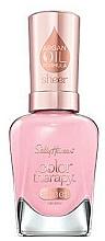 Parfumuri și produse cosmetice Lac de unghii, cu ulei de argan - Sally Hansen Color Therapy Sheer Nail Color