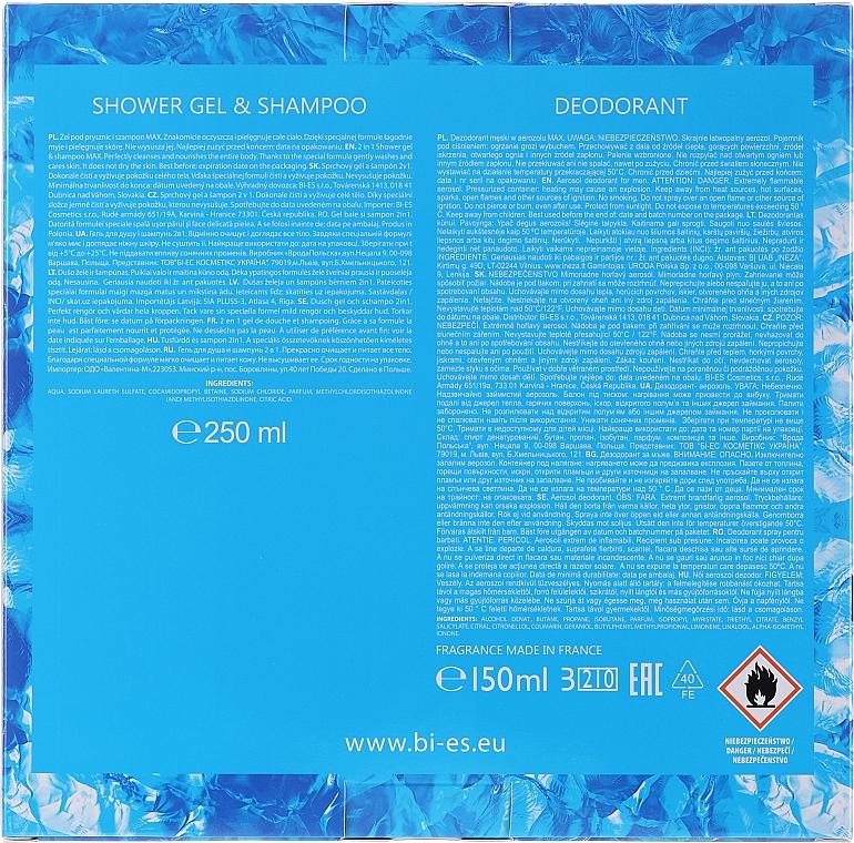 Bi-es Max Ice Freshness For Man - Set (h/shm/250ml + deo/150ml) — Imagine N2