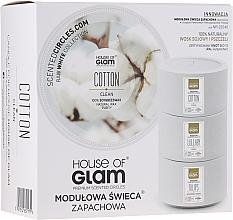 Parfumuri și produse cosmetice Lumânare parfumată - House of Glam Calmig Clean Cotton Candle