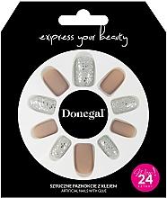 Parfumuri și produse cosmetice Set unghii false cu adeziv, 3063 - Donegal Express Your Beauty