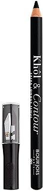 Creion de ochi cu ascuțitoare - Bourjois Khol & Contour Extra-Long Wear