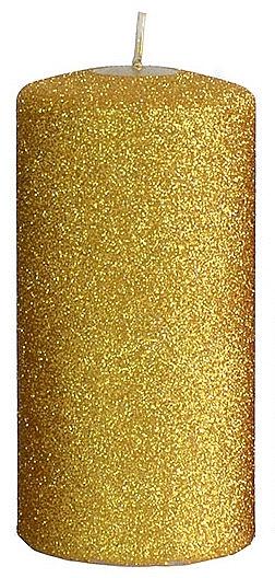 Lumânare decorativă, aurie, 7x18 cm - Artman Glamour — Imagine N1