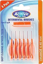 Parfumuri și produse cosmetice Periuțe interdentale, 0,45 mm, portocalii - Beauty Formulas Active Oral Care Interdental Brushes