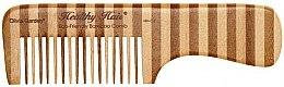 Parfumuri și produse cosmetice Pieptene de bambus, 3 - Olivia Garden Healthy Hair Eco-Friendly Bamboo Comb 3