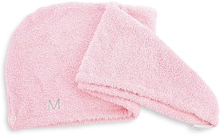 Prosop turban pentru uscarea părului, roz pudrat - MakeUp