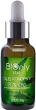 Parfumuri și produse cosmetice Ulei de cânepă CBD 20% - BIOnly