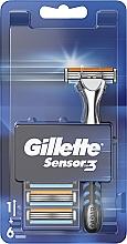 Parfumuri și produse cosmetice Aparat de ras cu 6 casete - Gillette Sensor 3
