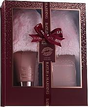 Parfumuri și produse cosmetice Set  - Baylis & Harding Limited Edition Cranberry Martini (crystals/100g + f/lot/140ml + slippers)