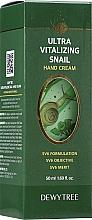 Parfumuri și produse cosmetice Cremă hidratantă pentru mâini - Dewytree Ultra Vitalizing Snail Hand Cream
