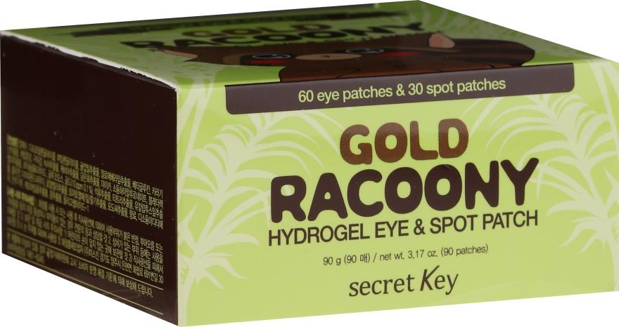 Patch-uri de hydrogel sub ochi, cu aur - Secret Key Gold Racoony Hydrogel Eye Spot Patch