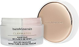 Parfumuri și produse cosmetice Mască dublă pentru față - Bare Escentuals Bare Minerals Claymates Be Pure & Be Dewy Mask Duo