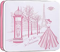 Parfumuri și produse cosmetice Set - Institut Karite Rose Mademoiselle (soap/100g + h/cr/30ml + b/oil/10ml + candle/1pc + confetti + box)