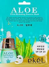 Parfumuri și produse cosmetice Mască din țesătură cu extract de Aloe pentru față - Ekel Aloe Ultra Hydrating Essence Mask
