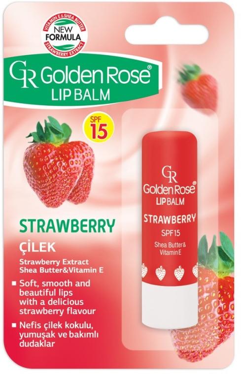 Бальзам для губ - Golden Rose Lip Balm Strawberry SPF15 — фото N1