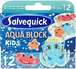 Parfumuri și produse cosmetice Plasture pentru copii  - Salvequick Aqua Block Kids Slices