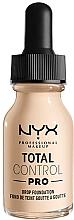 Parfumuri și produse cosmetice Fond de ten - NYX Professional Total Control Pro Drop Foundation