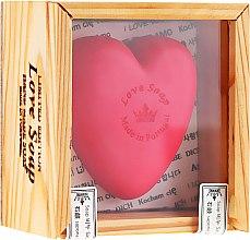 """Parfumuri și produse cosmetice Săpun natural """"Inimă"""" - Essencias De Portugal Love Soap Wooden Box"""