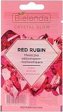 Parfumuri și produse cosmetice Mască de față - Bielenda Crystal Glow Red Rubin