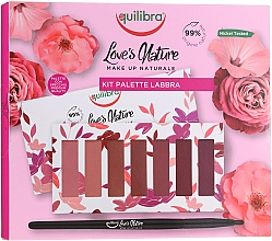 Parfumuri și produse cosmetice Set de rujuri, cu pensulă - Equilibra Love's Nature Lip Palette Kit
