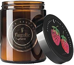 """Parfumuri și produse cosmetice Lumânare aromată în borcan """"Căpșună"""" - Flagolie Fragranced Candle Strawberrie"""