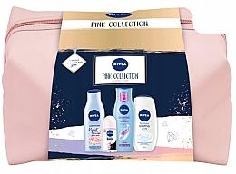 Parfumuri și produse cosmetice Set  - Nivea XMax Pink Collection 2020 (b/lot/200ml+shm/250ml+sh/gel/500ml+deo/50ml+bag)