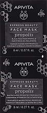 Parfumuri și produse cosmetice Mască neagră cu propolis pentru față - Apivita Express Beauty Purifying & Oil-Balancing Propolis Black Face Mask