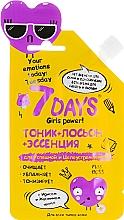 "Духи, Парфюмерия, косметика Toner + loțiune + esență ""Girls power"" cu iris și iasomie - 7 Days Your Emotions Today"