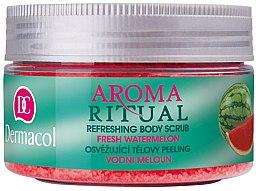 "Parfumuri și produse cosmetice Scrub pentru corp ""Pepene verde proaspăt"" - Dermacol Aroma Ritual Body Scrub Fresh Watermelon"