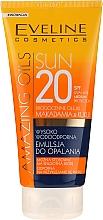 Parfumuri și produse cosmetice Emulsie pentru corp SPF20 - Eveline Cosmetics Amazing Oils