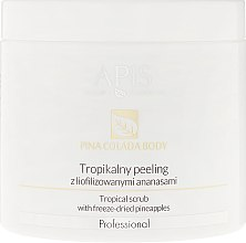 Parfumuri și produse cosmetice Peeling tropical cu ananas liofilizat - Apis Professional Pina Colada Body Tropical Scrub