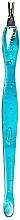 Parfumuri și produse cosmetice Spatulă pentru manichiură, RN 00416, albastră - Ronney Professional Cuticle Pusher