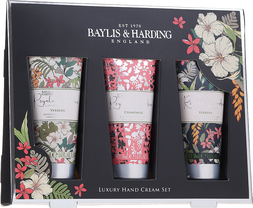 Set - Baylis & Harding Royal Garden Luxury Hand Cream (h/cr/3x50ml)