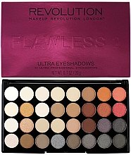 Parfumuri și produse cosmetice Paleta fard de ochi, 32 nuanțe - Makeup Revolution Ultra 32 Shade Palette Flawless 2