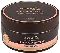 """Parfumuri și produse cosmetice Mască-unt pentru păr """"Nucă manchetti zambiană"""" - Ecolatier Butter Mask"""