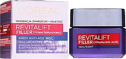 Parfumuri și produse cosmetice Cremă de noapte îngrijire anti-îmbătrânire - L'Oreal Paris Revitalift Filler Hyaluronic Acid Night Cream