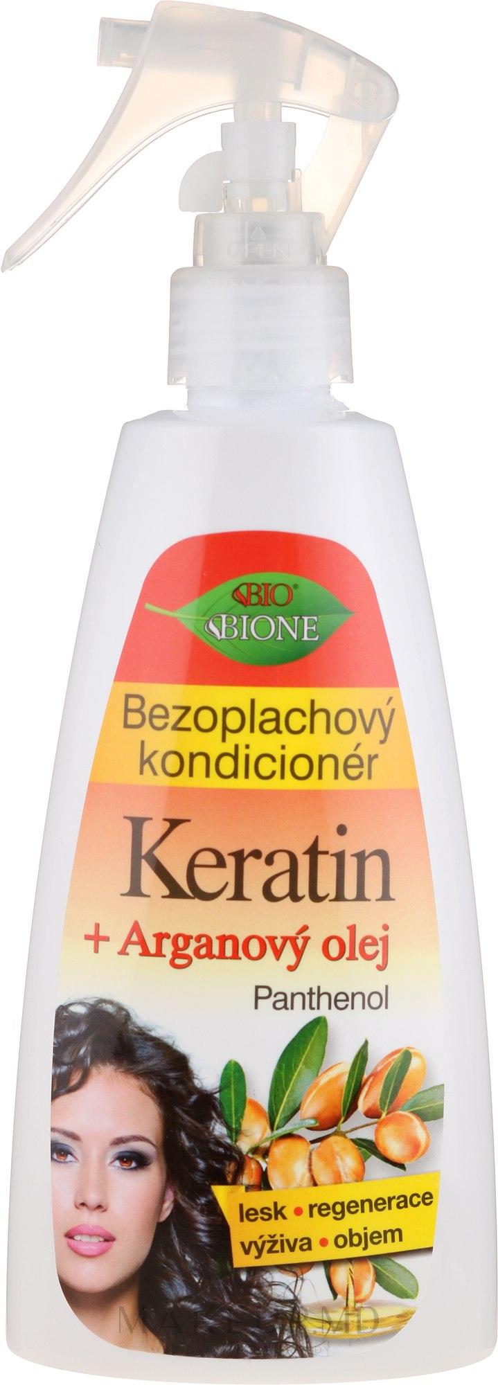 Несмываемый кондиционер для волос - Bione Cosmetics Keratin + Argan Oil Leave-in Conditioner With Panthenol — фото 260 ml