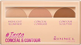 Духи, Парфюмерия, косметика Набор для контуринга лица - Rimmel Insta Conceal & Contour Palette