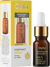 Parfumuri și produse cosmetice Ser pentru față, gât și decolteu - Delia Liposomal Vitamin C 100% Face Neckline Serum Anti Wrinkle Treatment