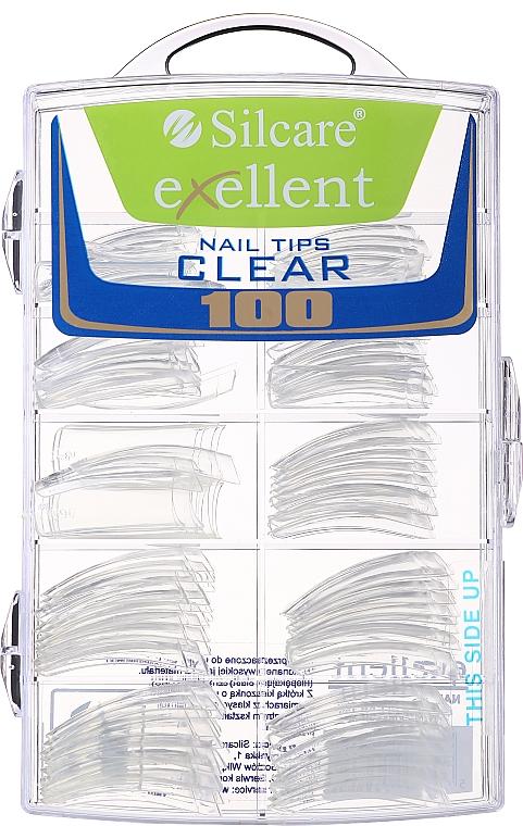 Типсы для ногтей, d/k - Silcare Tipsy Exellent Clear — фото N1
