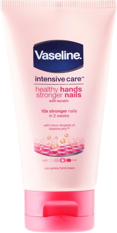 Cremă pentru mâini și unghii - Vaseline Intensive Care Healthy Hands & Nails Keratin Cream