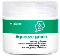 Parfumuri și produse cosmetice Cremă-gel pentru față - E-Nature Squeeze Green Watery Gel Cream Moisturizing + Refining