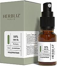 """Parfumuri și produse cosmetice Ulei spray pentru cavitatea bucală """"Măsline"""" 10% - Herbliz CBD Olive Fresh Oil Mouth Spray 10%"""