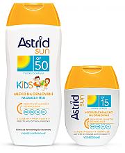 Parfumuri și produse cosmetice Set - Astrid Sun Kids Milk (b/milk/200 + b/milk/80ml)