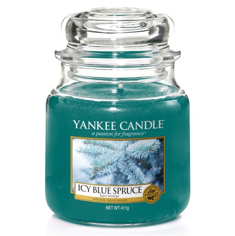 Lumânare în borcan - Yankee Candle Icy Blue Spruce — Imagine N1