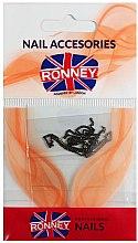 Parfumuri și produse cosmetice Strasuri pentru unghii, 00377, negru - Ronney Professional