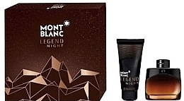 Parfumuri și produse cosmetice Montblanc Legend Night - Set (edp/50ml + ash/balm/100ml)